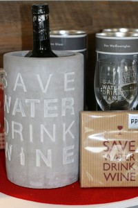 Weinkühler Save Water Drink Wine klein
